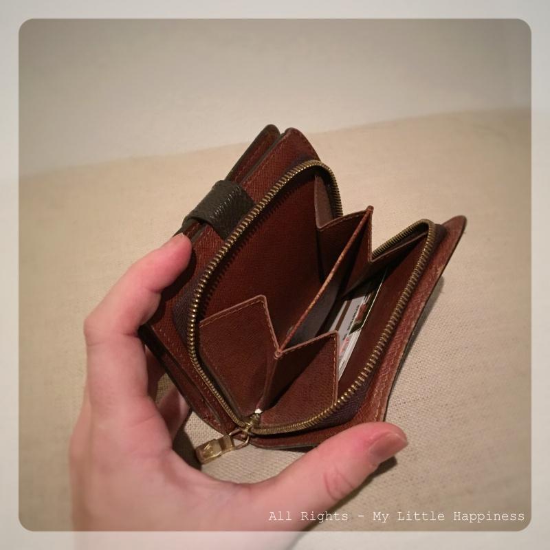 Designer vintage LV wallet binnenvakje