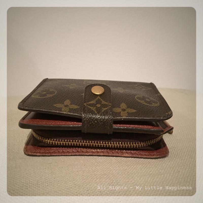 Vintage Designer LV wallet zijkant