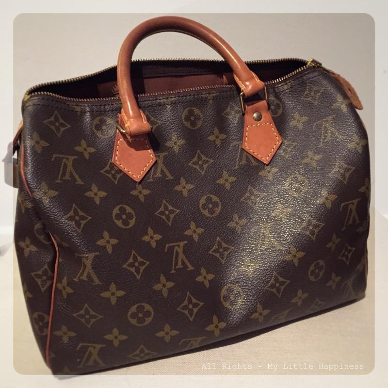 Vintage Designer tas LV achterkant