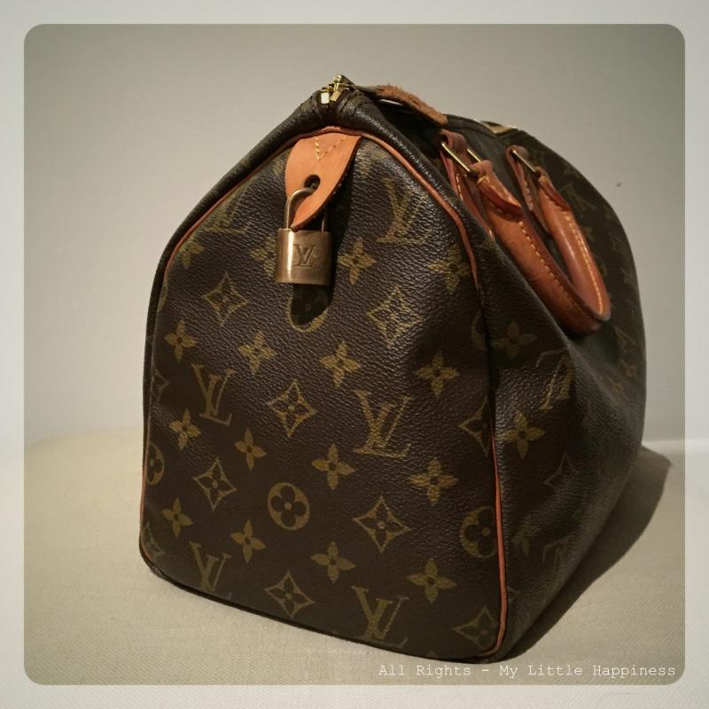 Vintage Designer tas LV zijkant