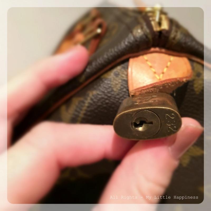 Vintage designer tas LV slotje