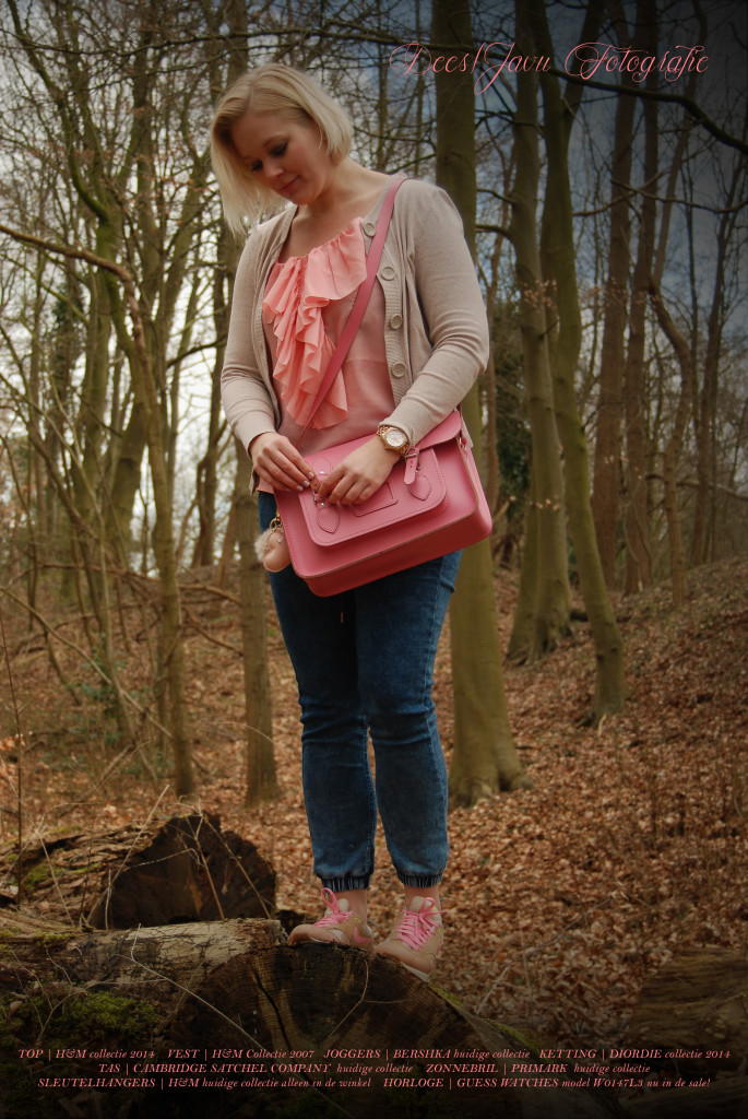 outfit pink, cambridge satchel company, roze, nike air max PRM