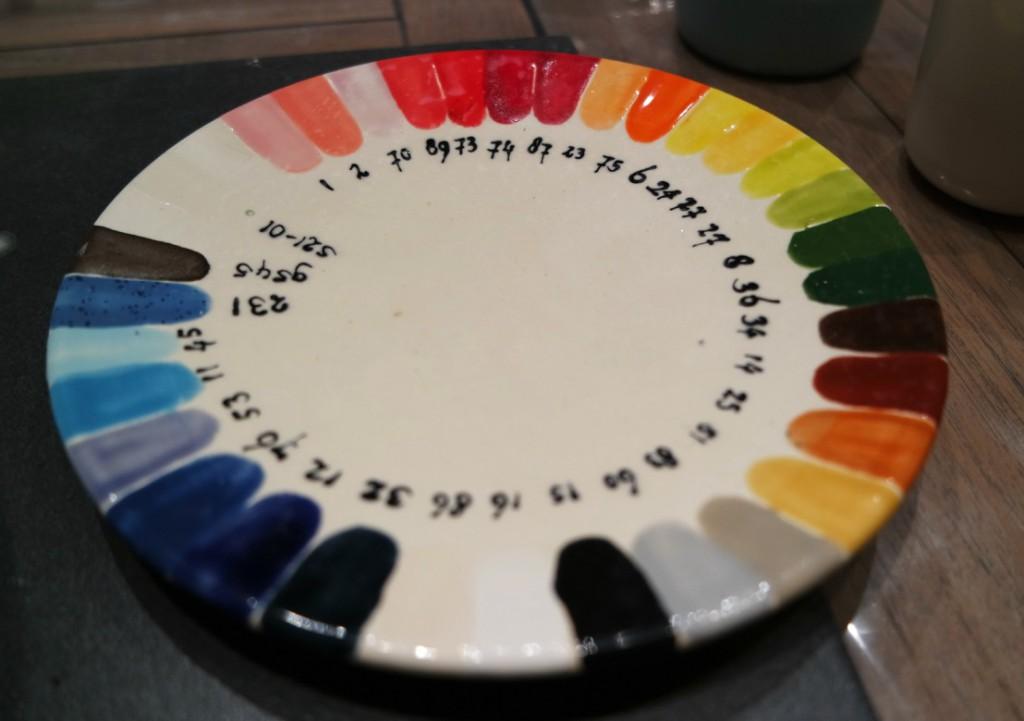 Kleurenpalet doodle