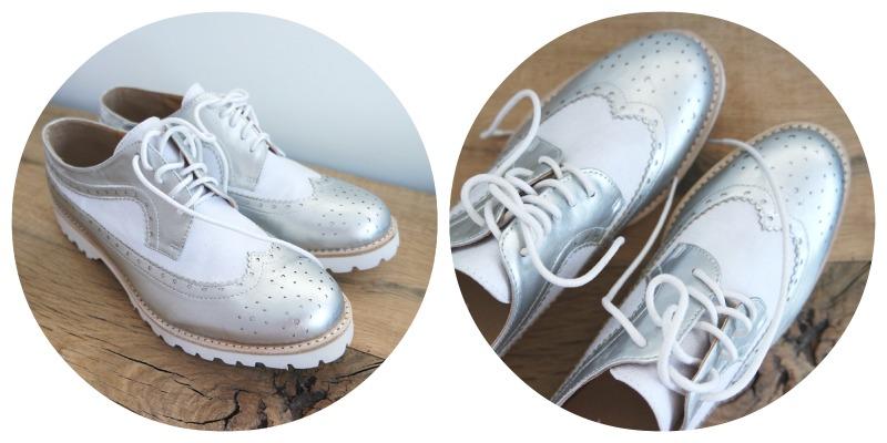 Shoplog Londen - Zilveren schoenen