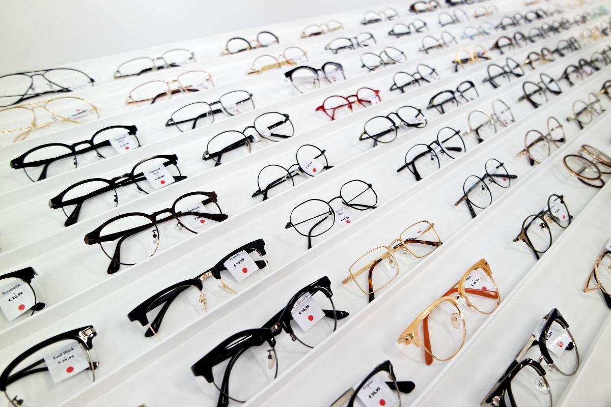 Polette brillen assortiment in de winkel aan de Kinkerstraat 288 Amsterdam