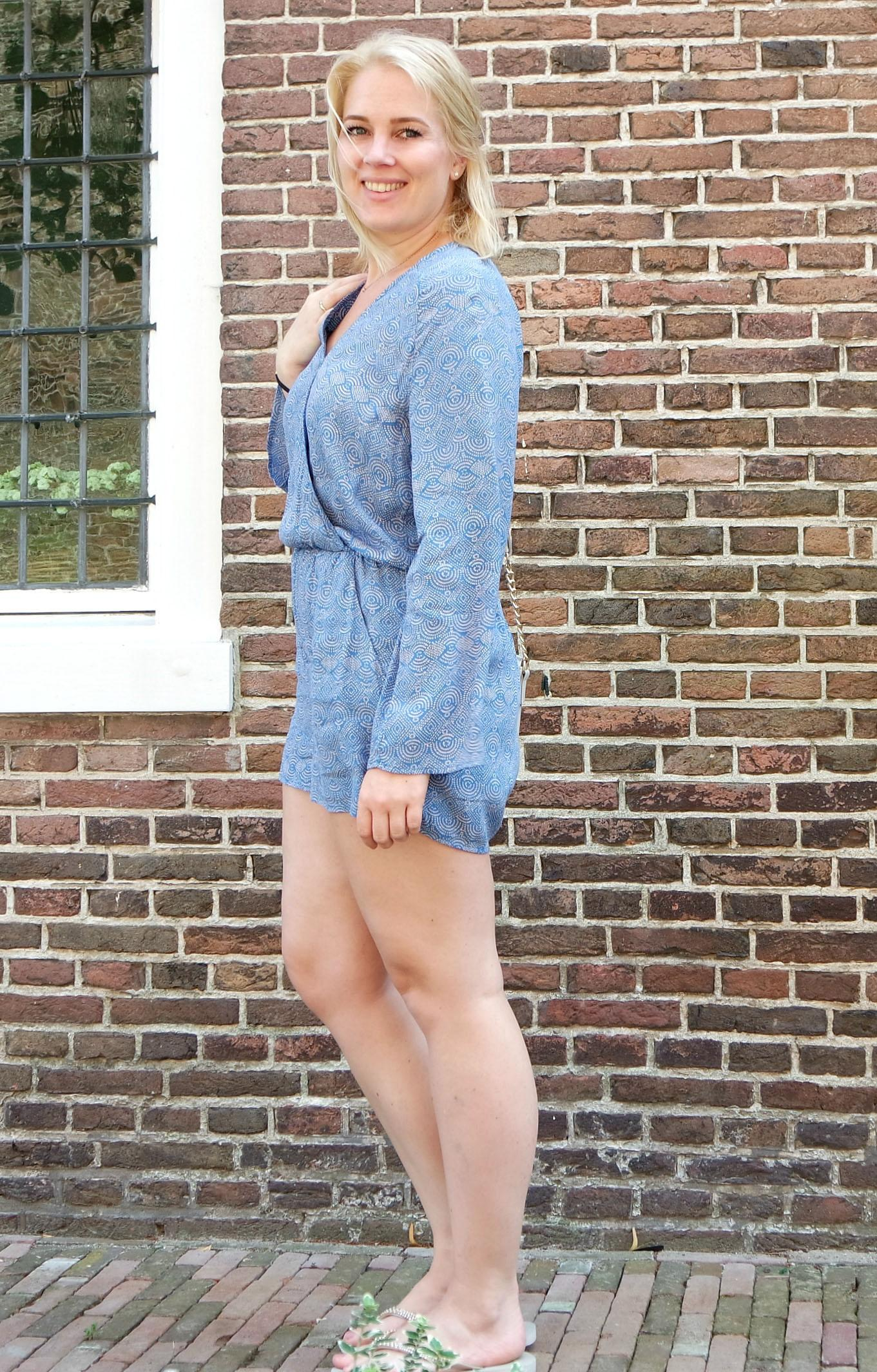 Outfit   H&M jumpsuit   Amazonas sandals slippers   Primark tas