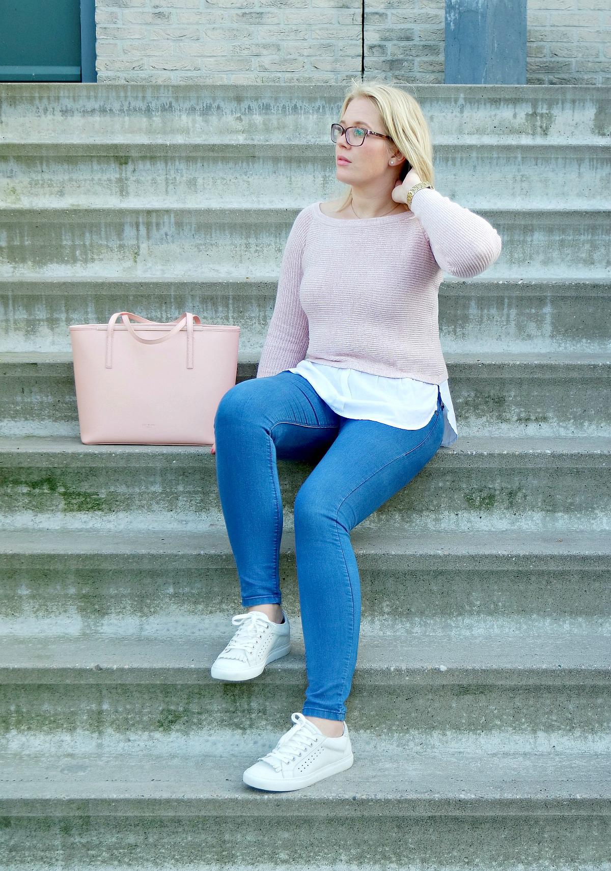 outfit Pink lover New Ted baker bag, via vai schoenen, River Island Top, Happiness boutique ketting