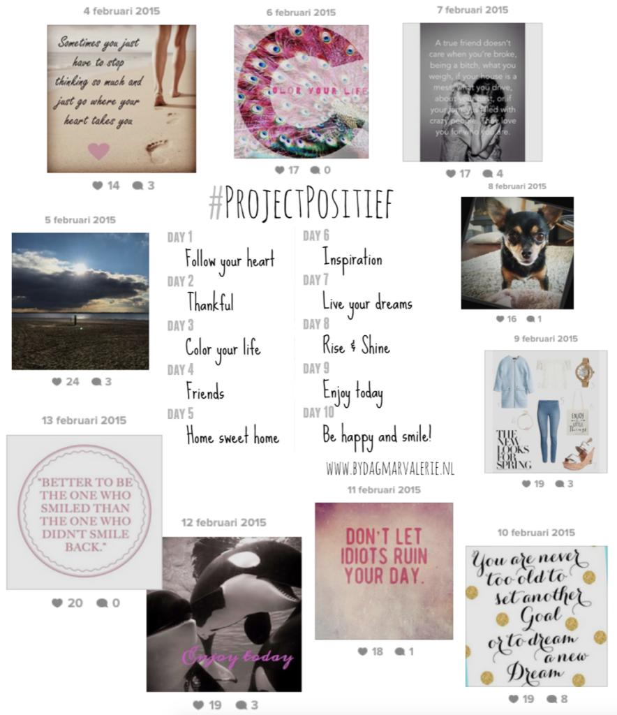 Hoe ik de #projectpositief Instagram challenge 2.0 volbracht!