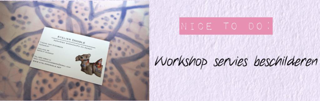 Workshop servies beschilderen | Leuke dingen om te doen