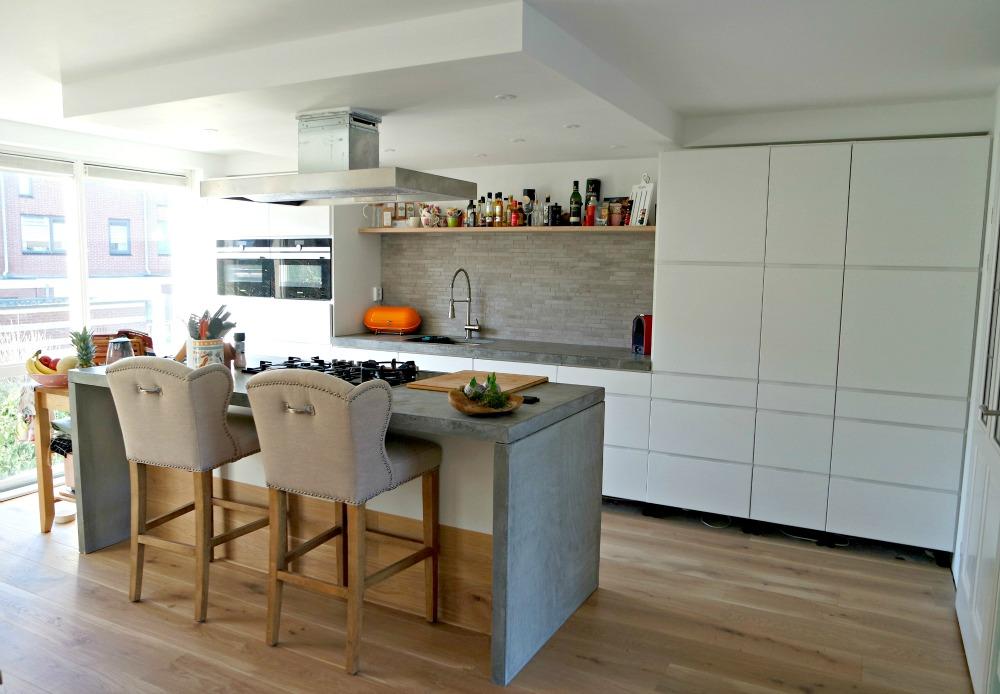 Keuken kvik met betonnen blad KOAK