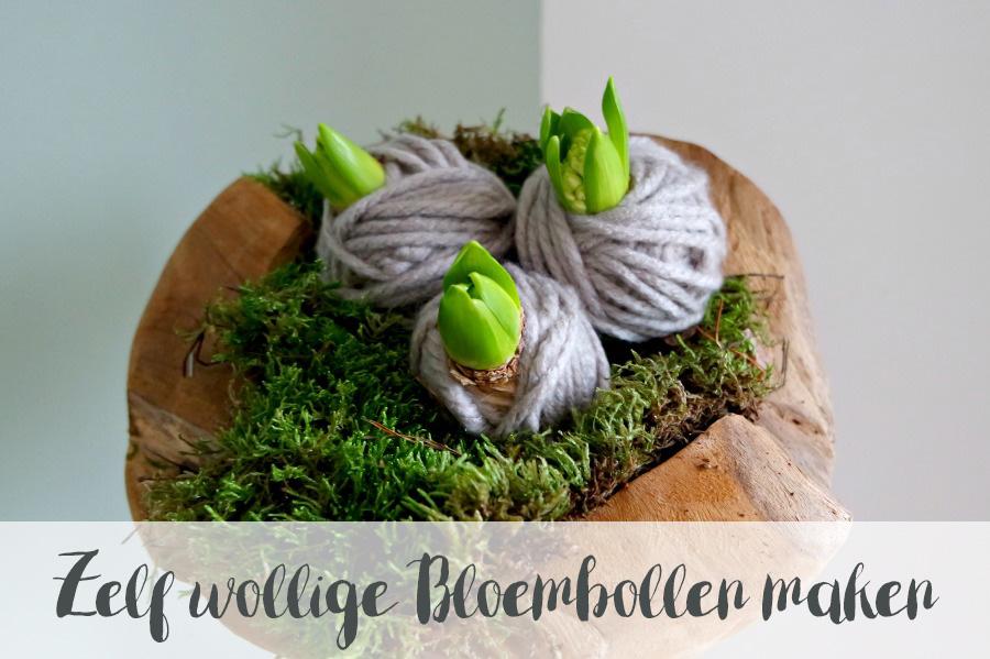 DIY wollige bloembollen decoratie, goedkoop en uniek