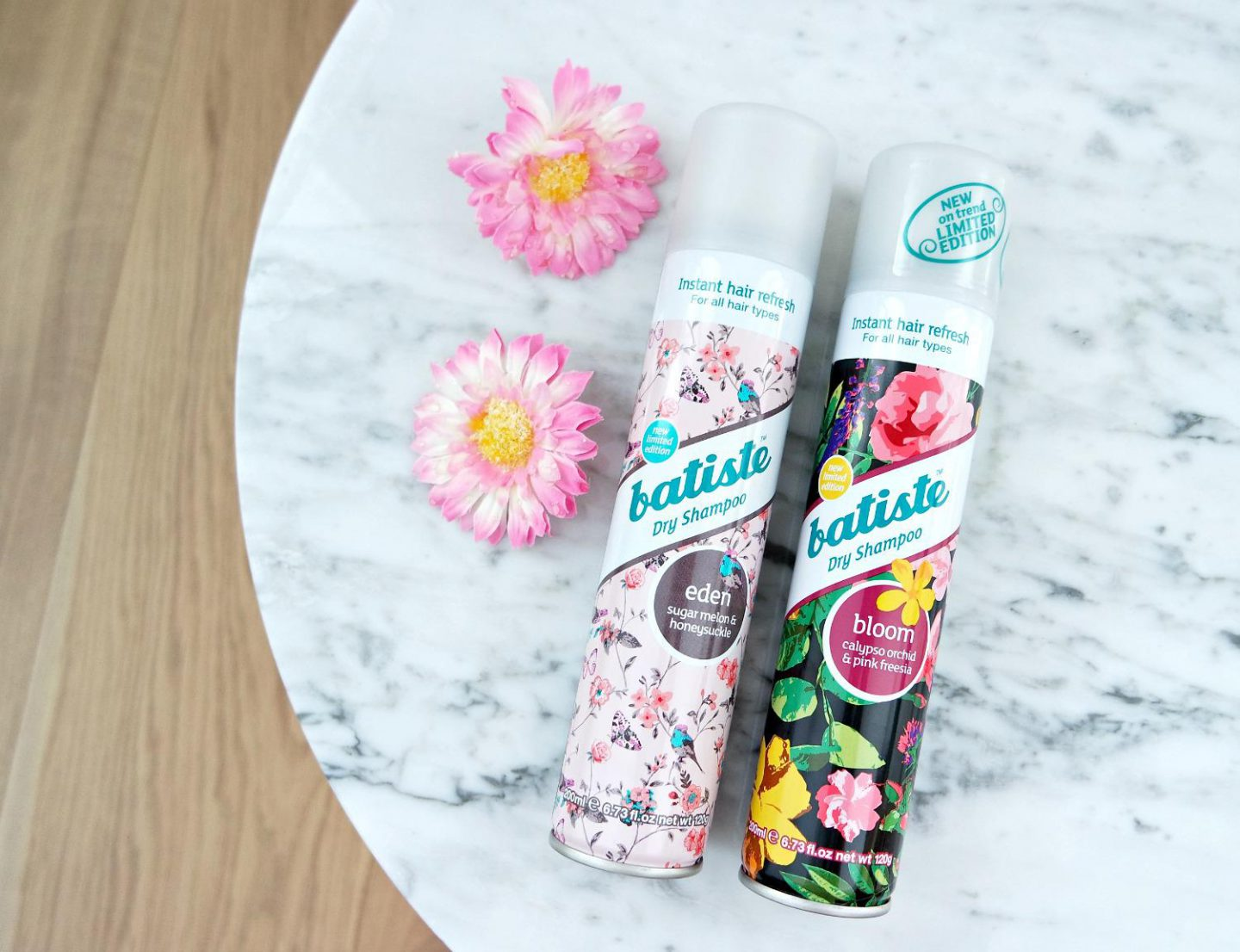 Mijn haarritueel & Review Batiste droogshampoo Limited editions Eden en Bloom