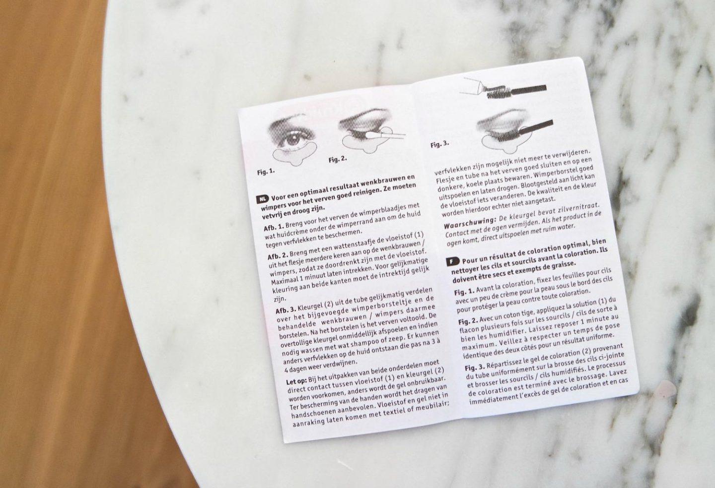 Kruidvat Lash & Brow Color black gebruiksaanwijzing
