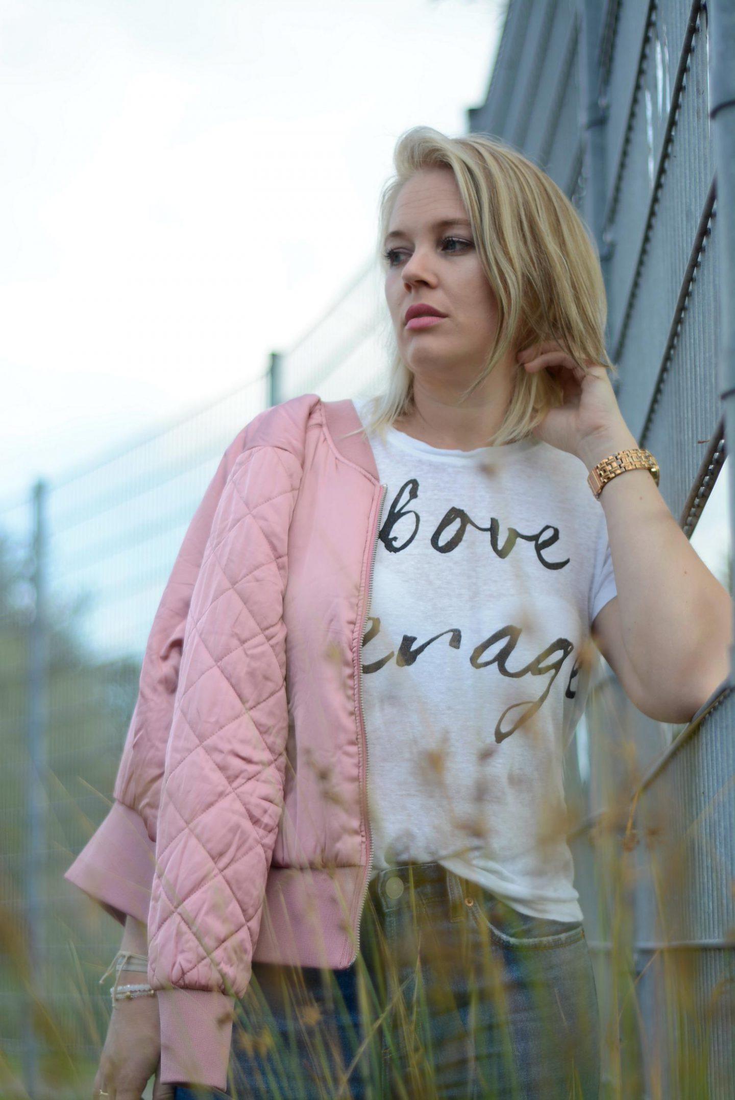 Roze Bomberjack H&M