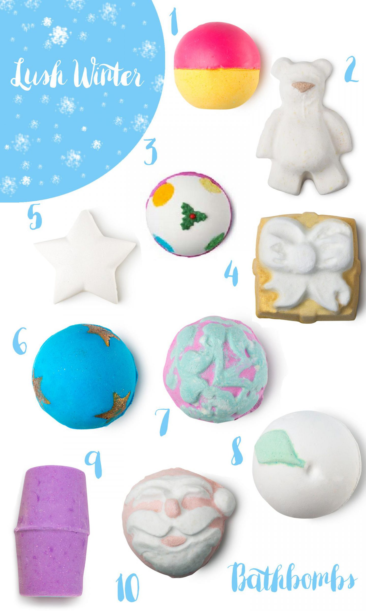 lush winter 2016 bathbombs