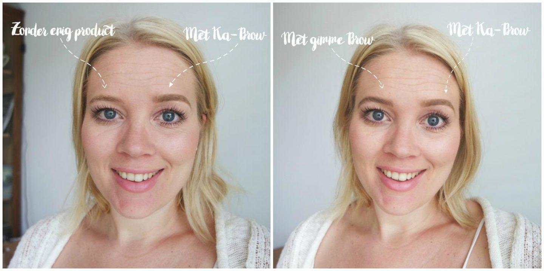 benefit gimme brow voor en na