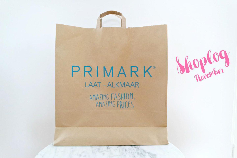 Primark shoplog november!