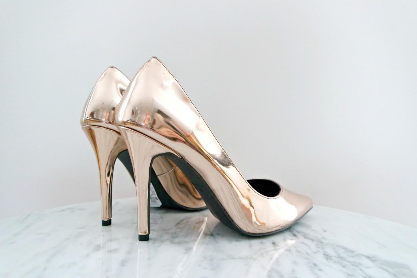 primark shoplog rose gouden pumps