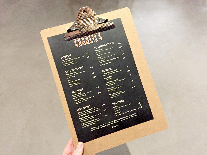 Charlie's Rotterdam menu kaart