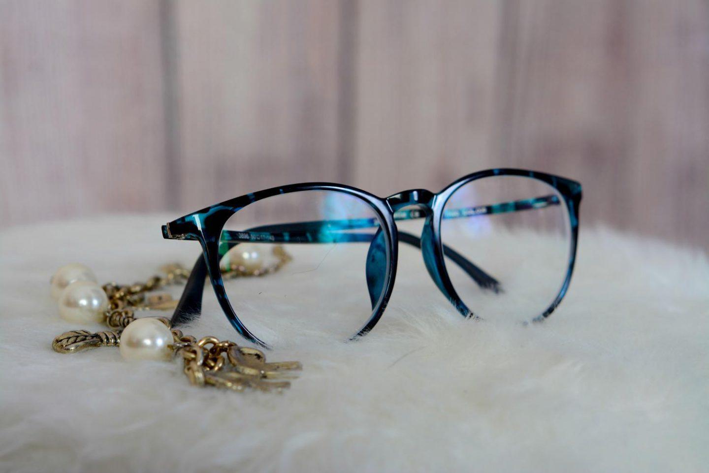 bril polette blauw