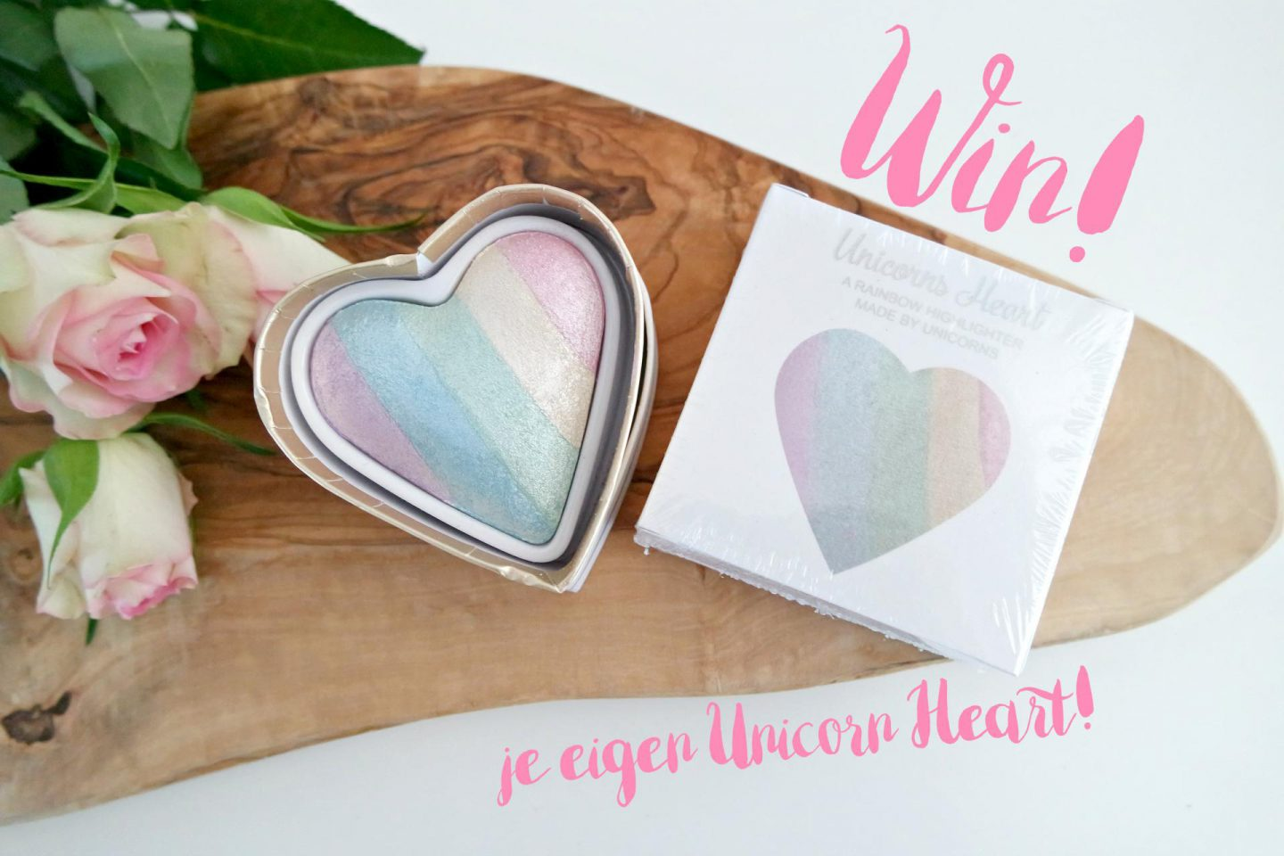 winactie unicorn highlighter van I heart makeup