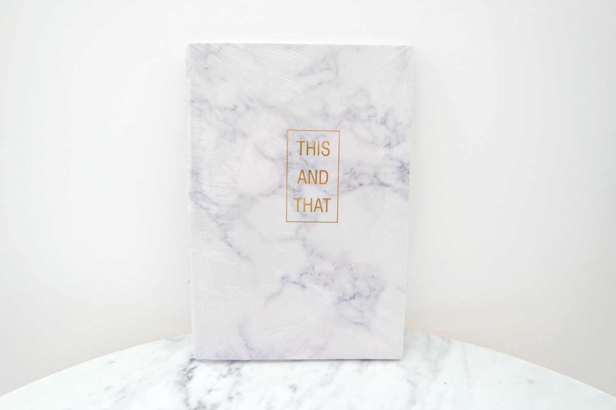 Action Shoplog marble notitieboek