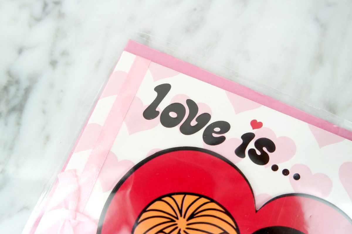 Action Shoplog valentijnskaart