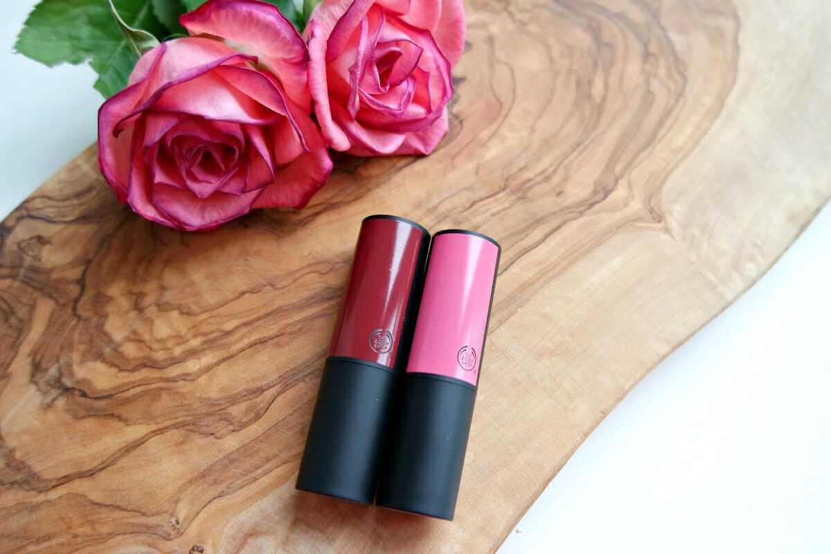 The Body Shop matte lipsticks