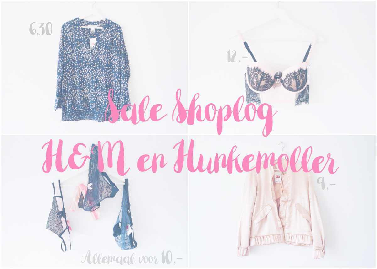 Sale shoplog H&M en Hunkemoller