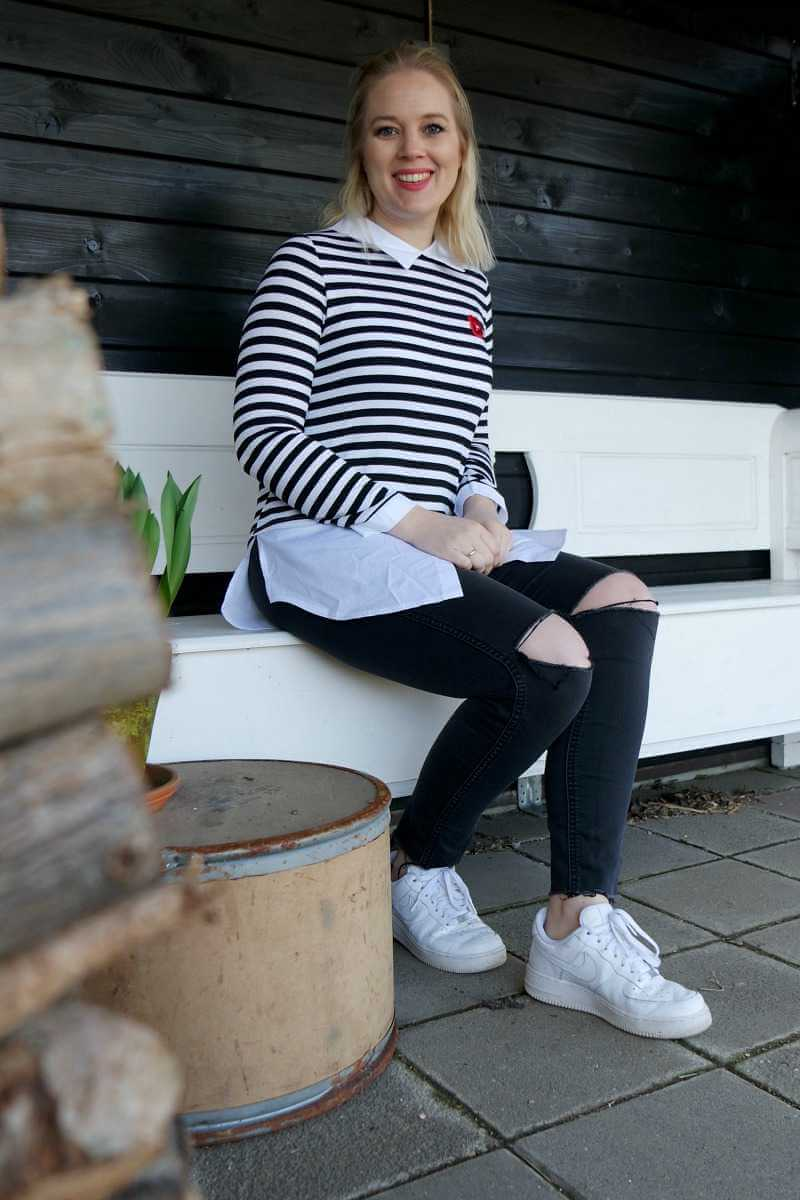 Outfit zwart/wit Named Fashion