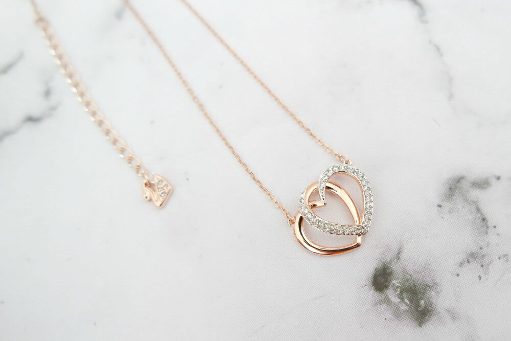 Swarvoski ketting DEAR HEART ROSE CRYSTAL KETTING