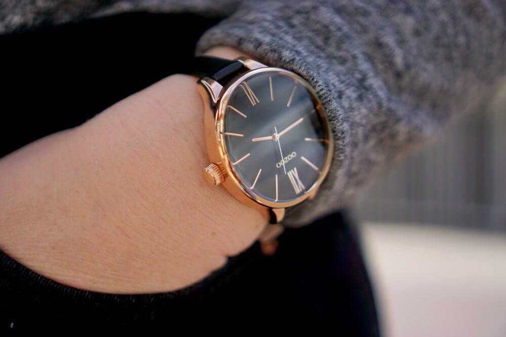 Horloge OOZOO TIMEPIECES ZWART HORLOGE C8404