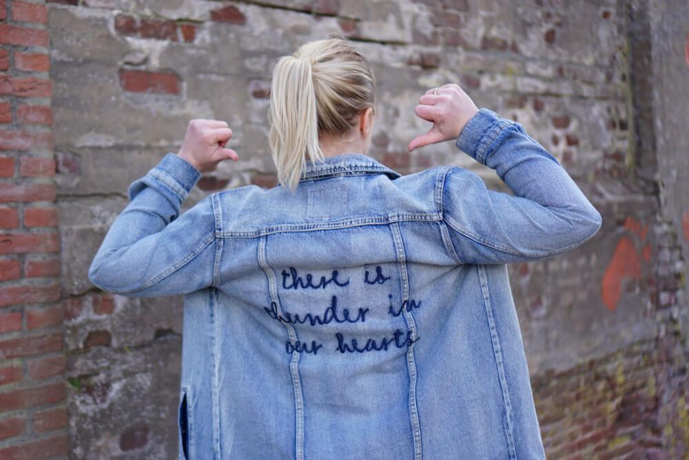 Outfit | There is thunder in our hearts spijkerjas only