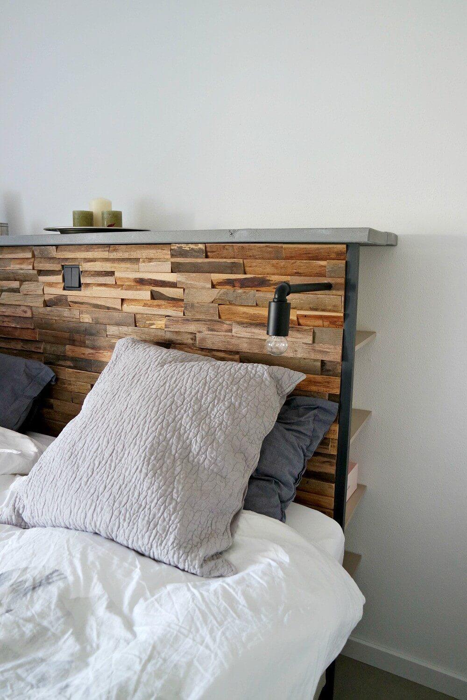 Slaapkamer eigen gemaakt bedmeubel