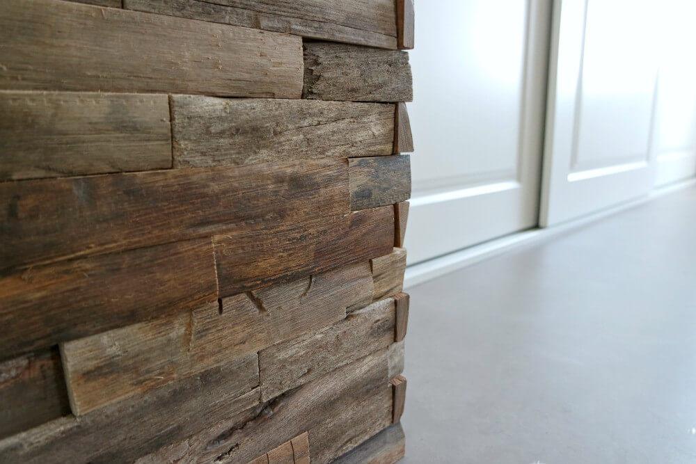 Slaapkamer details hout