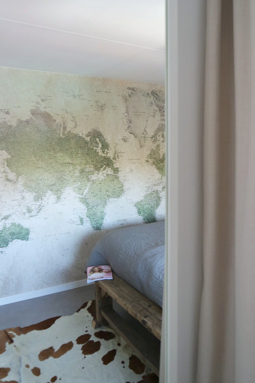 slaapkamer wereldkaartbehang