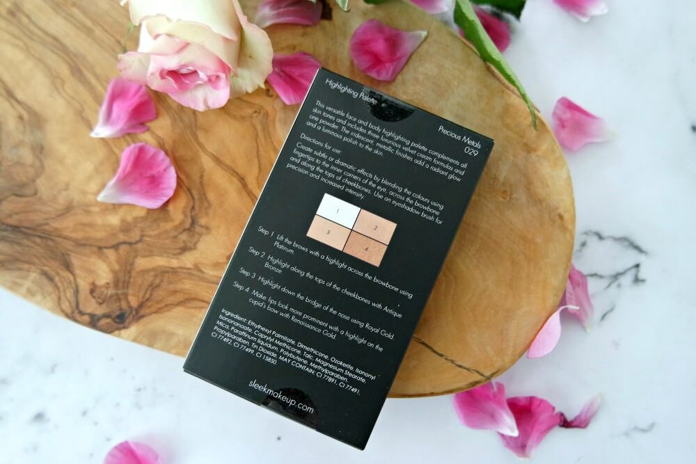 Sleek Highlighting palette Precious Metals
