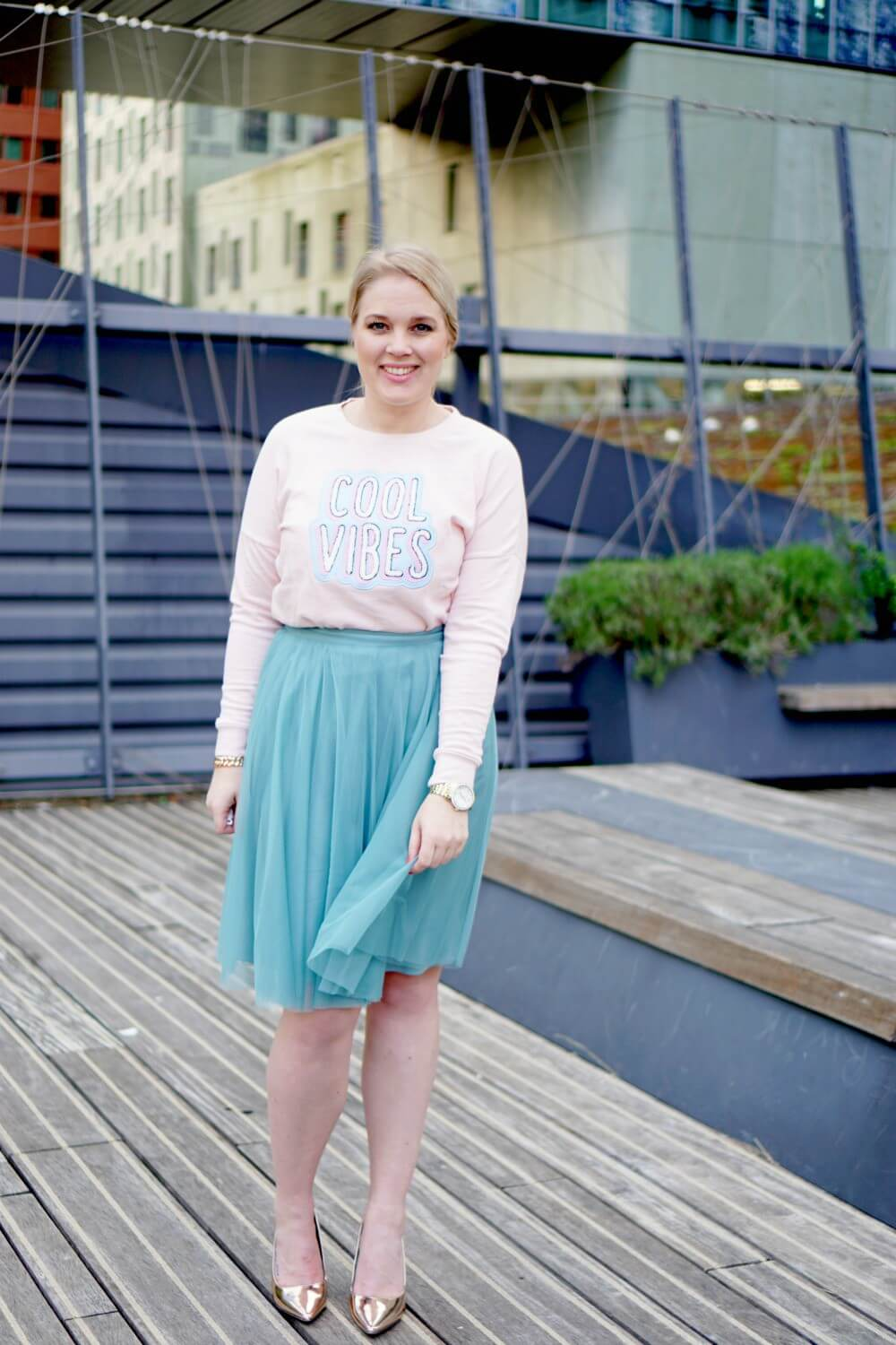 Outfit | Happy bubble / tule rok esprit