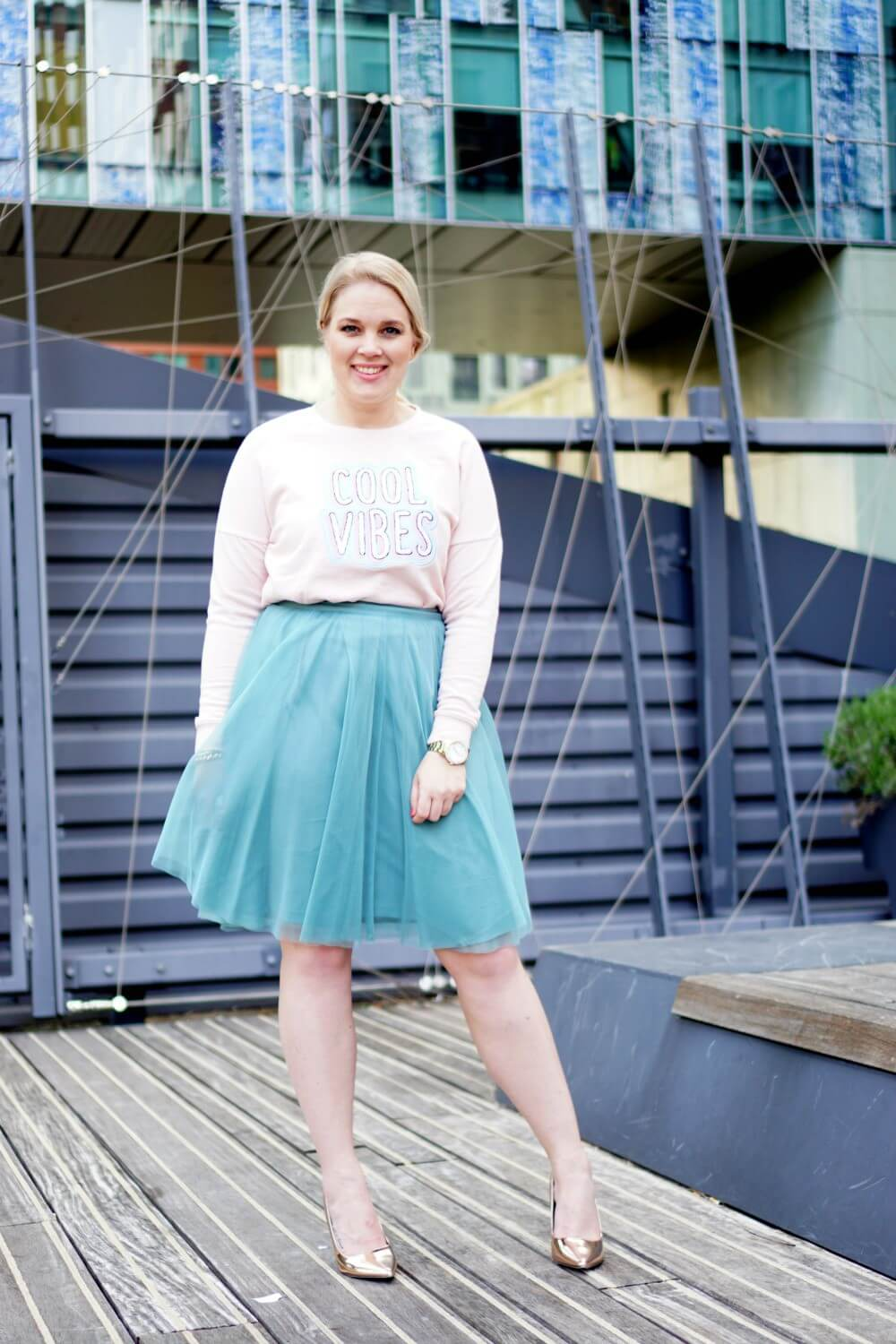 Outfit | Happy bubble / tulle rok esprit
