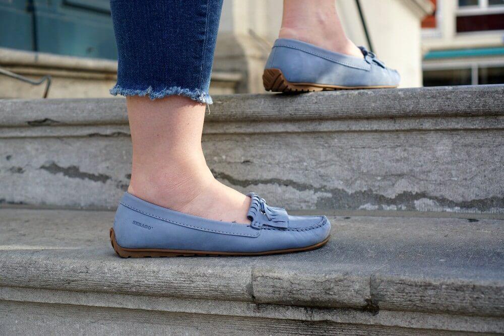 Outfit | Sebago harper kil tie LT blue