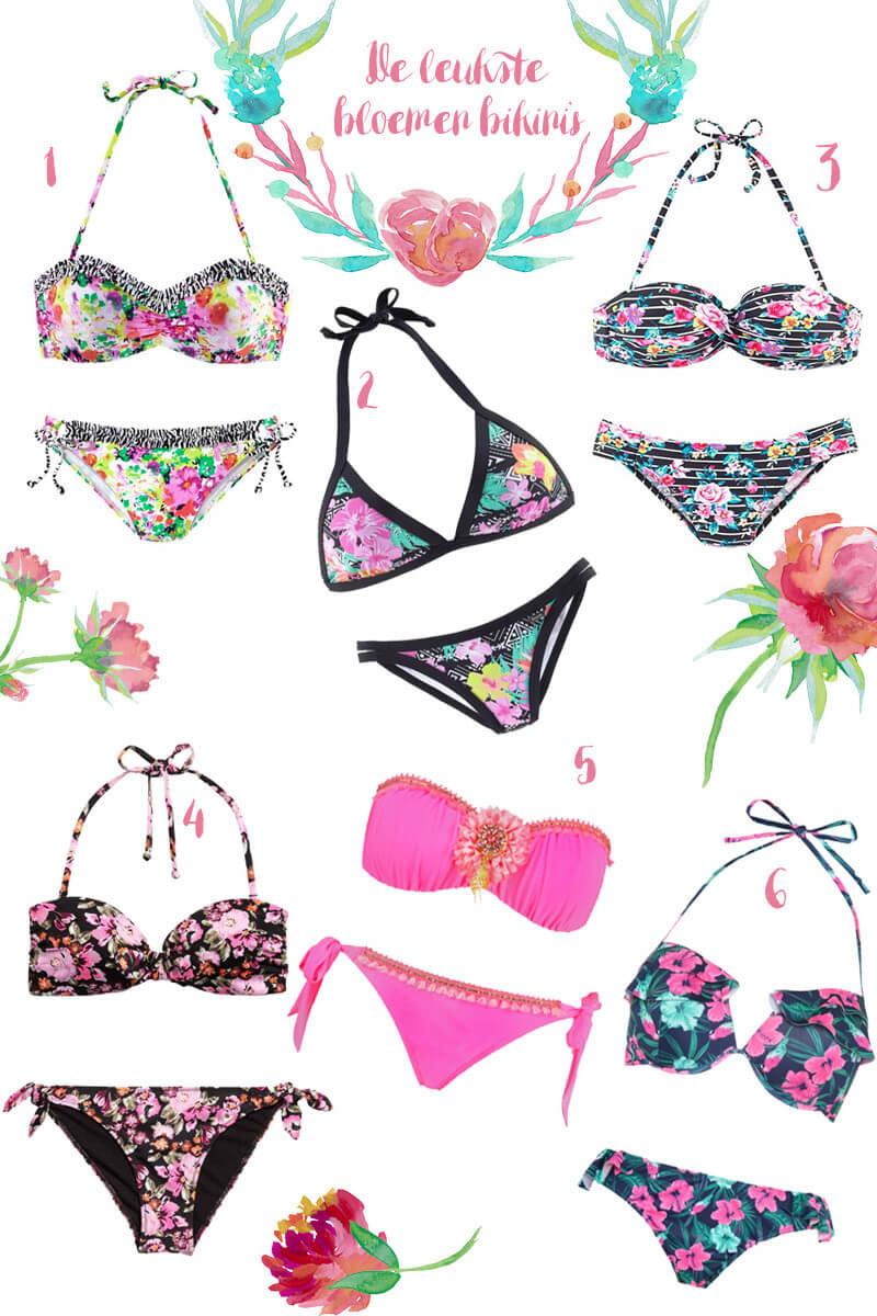 Bloemen bikini's