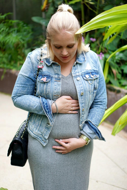 MAMALICIOUS gebreide zwangerschapsjurk