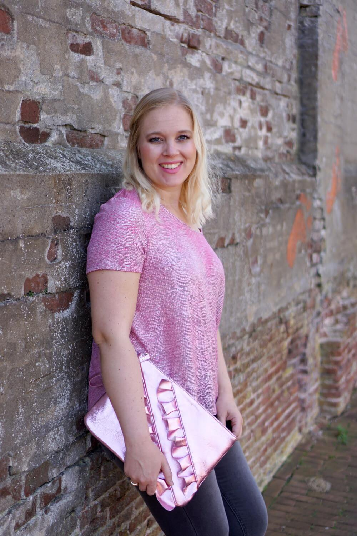 Roze Zwangerschapsoutfit