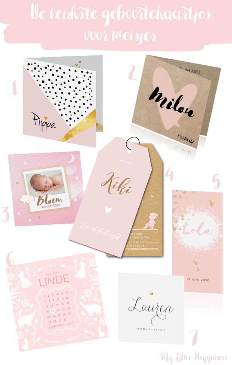 De leukste geboortekaartjes voor meisjes