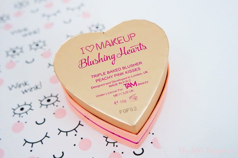I Heart Make-Up Blushing Hearts Peachy Pink Kisses Triple Baked Blusher