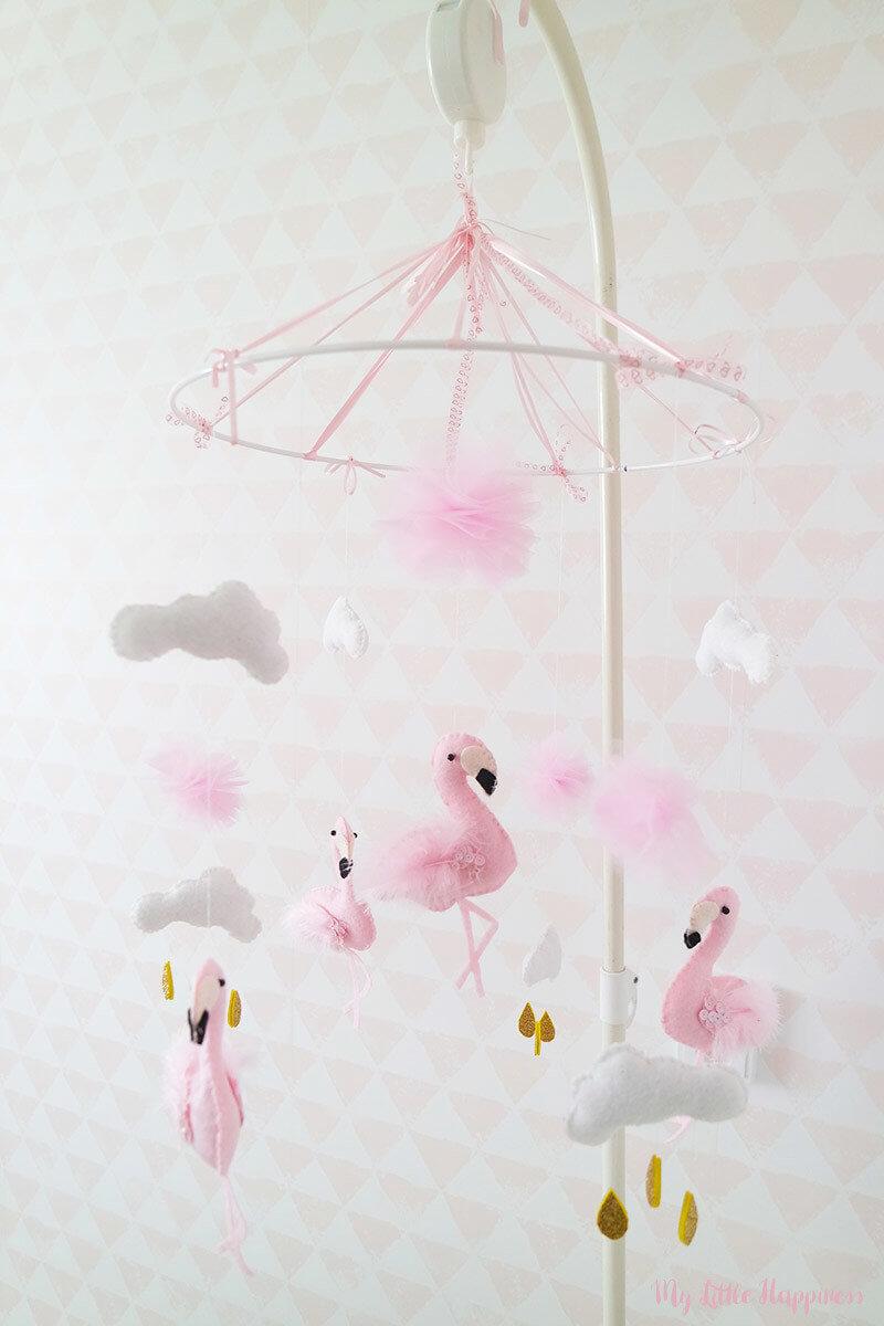 Flamingo baby mobiel