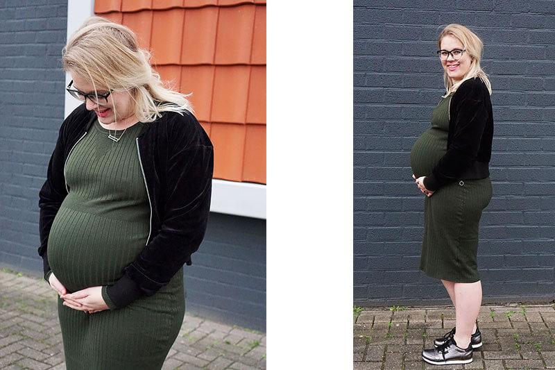 Outfit | 37 weken zwanger met een metallic touch