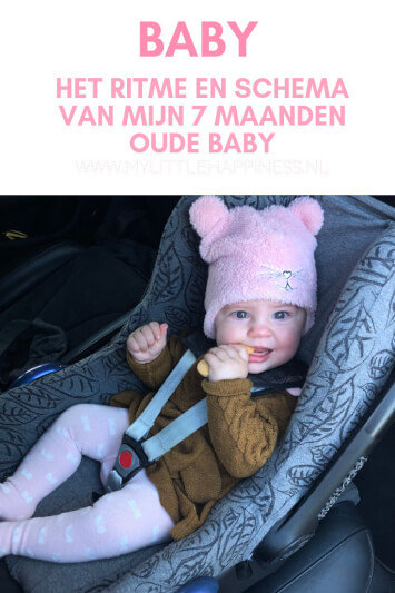 Ritme en schema van 7 maanden oude baby