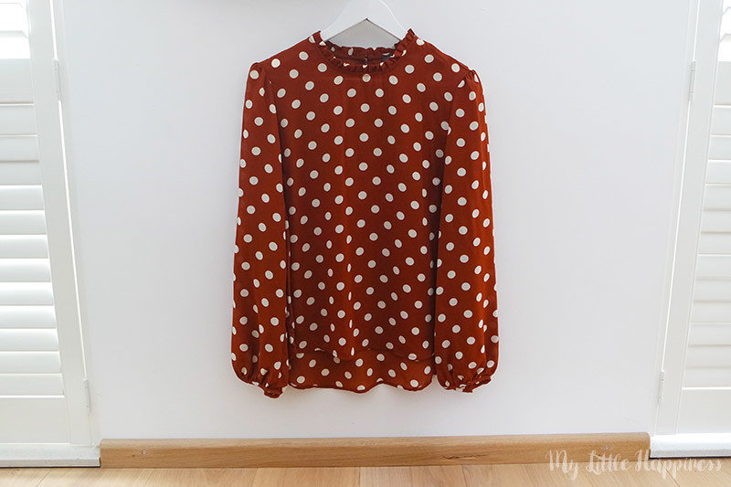 Primark shoplog september roestbruine blouse