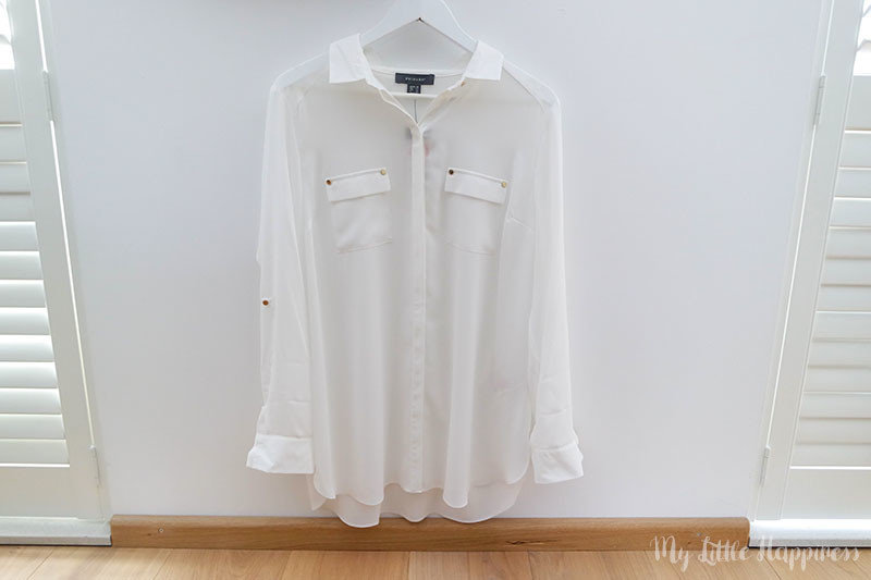Primark shoplog september witte blouse